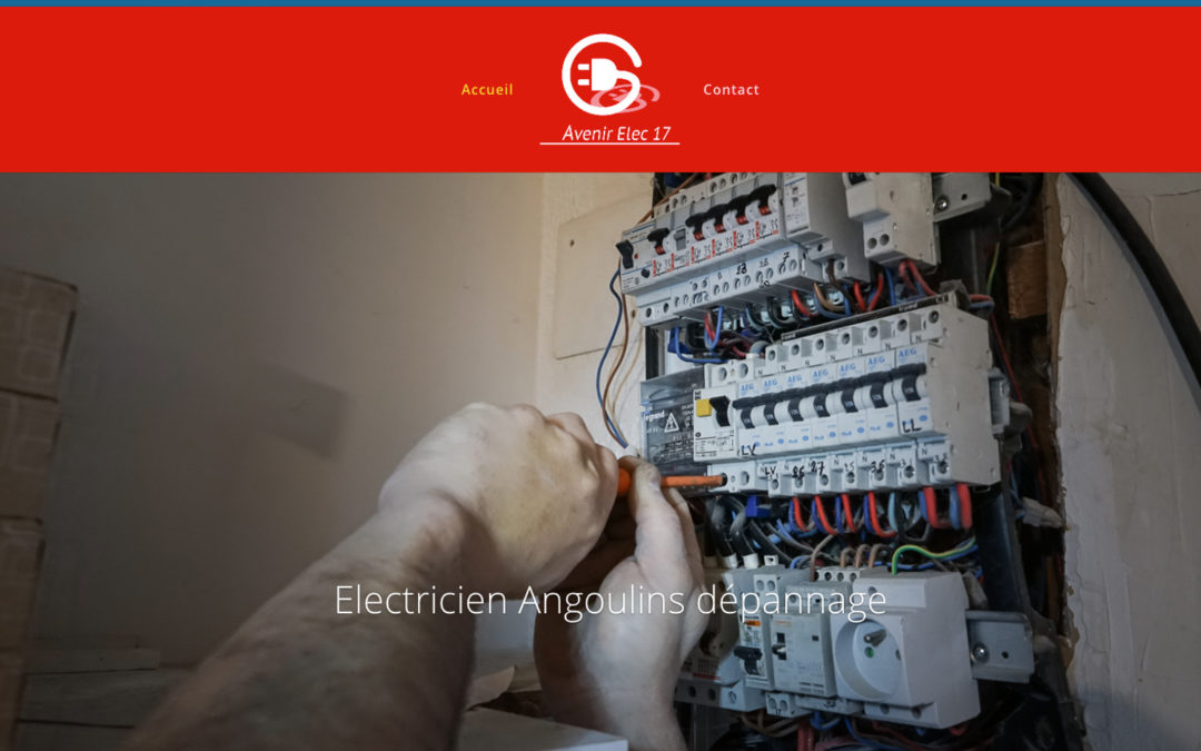Site vitrine artisan électricien