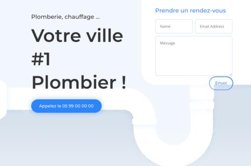 site web plombier modele